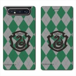 Housse cuir portefeuille Samsung Galaxy A80 WB License harry potter ecole Slytherin