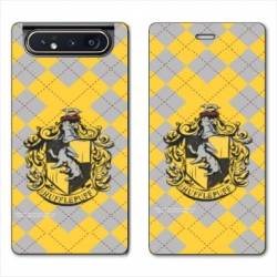Housse cuir portefeuille Samsung Galaxy A80 WB License harry potter ecole Hufflepuff