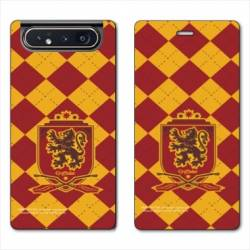 Housse cuir portefeuille Samsung Galaxy A80 WB License harry potter ecole Griffindor