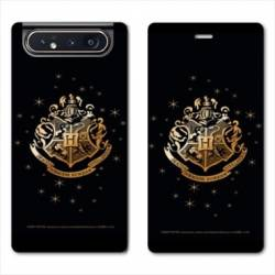 Housse cuir portefeuille Samsung Galaxy A80 WB License harry potter pattern Poudlard