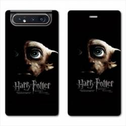 Housse cuir portefeuille Samsung Galaxy A80 WB License harry potter dobby Hollows