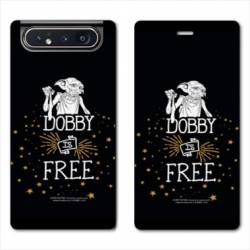 Housse cuir portefeuille Samsung Galaxy A80 WB License harry potter dobby Free N