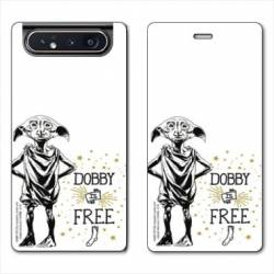 Housse cuir portefeuille Samsung Galaxy A80 WB License harry potter dobby Free B