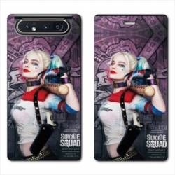 Housse cuir portefeuille Samsung Galaxy A80 Harley Quinn Batte