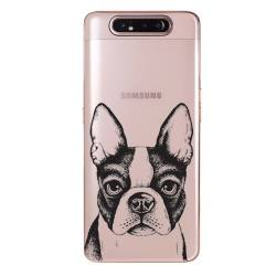 Coque transparente Samsung Galaxy A80 Bull dog