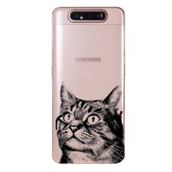 Coque transparente Samsung Galaxy A80 Chaton