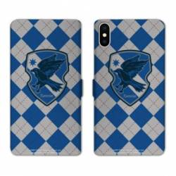RV Housse cuir portefeuille Wiko Y60 WB License harry potter ecole Ravenclaw