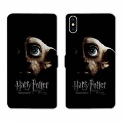 RV Housse cuir portefeuille Wiko Y60 WB License harry potter Hollows Dobby