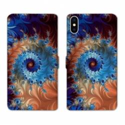 RV Housse cuir portefeuille Wiko Y60 Psychedelic Spirale