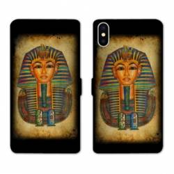 RV Housse cuir portefeuille Wiko Y60 Egypte Pharaon