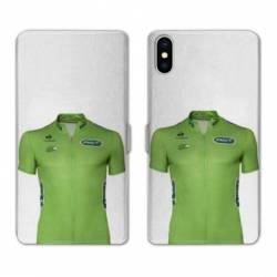 RV Housse cuir portefeuille Wiko Y60 Cyclisme Maillot vert
