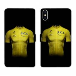 RV Housse cuir portefeuille Wiko Y60 Cyclisme Maillot jaune