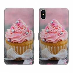 RV Housse cuir portefeuille Wiko Y60 Cupcake
