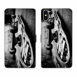 RV Housse cuir portefeuille Wiko Y60 Skate Vintage