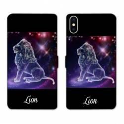 RV Housse cuir portefeuille Wiko Y60 signe zodiaque Lion2