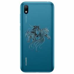 Coque transparente Huawei Y5 (2019) chevaux