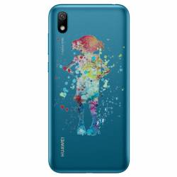 Coque transparente Huawei Y5 (2019) Dobby colore