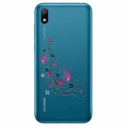 Coque transparente Huawei Y5 (2019) feminine fleur papillon