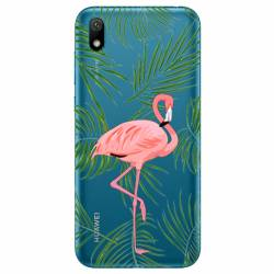 Coque transparente Huawei Y5 (2019) Flamant Rose
