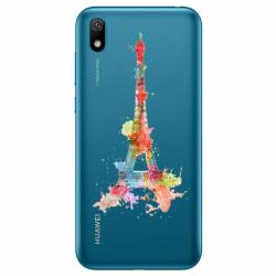 Coque transparente Huawei Y5 (2019) Tour eiffel colore