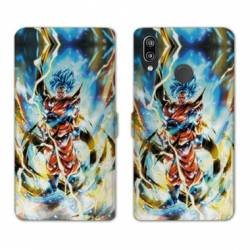 RV Housse cuir portefeuille Huawei Honor 10 Lite / P Smart (2019) Manga Dragon Ball Sangoku Blanc