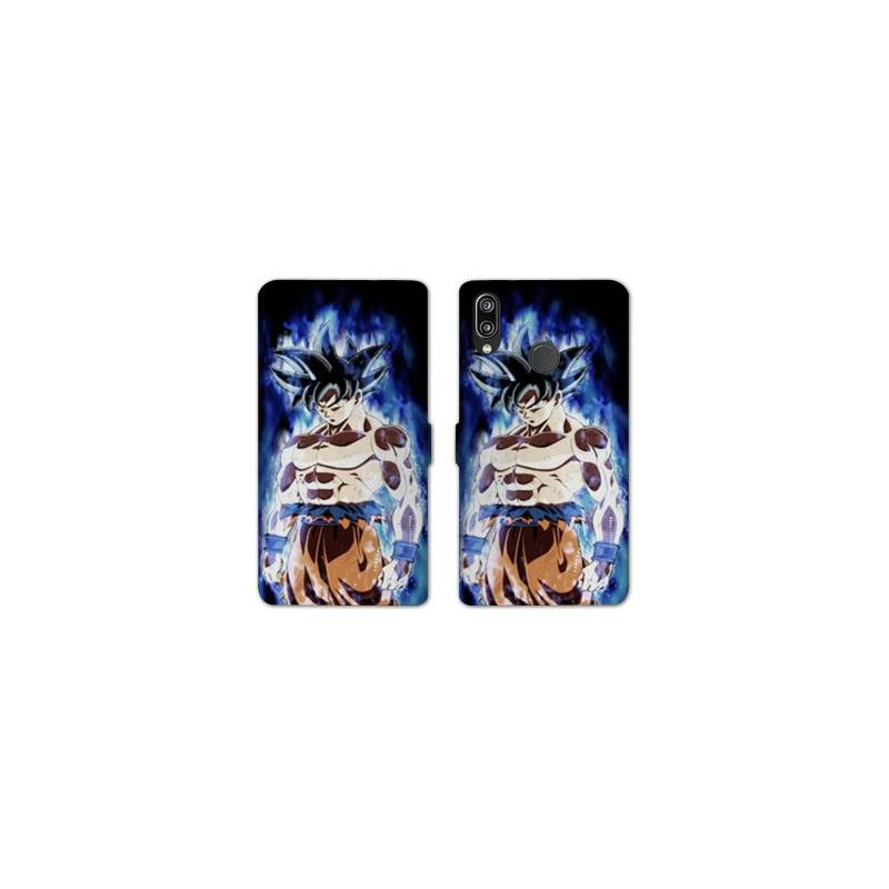 RV Housse cuir portefeuille Huawei Honor 10 Lite / P Smart (2019) Manga Dragon Ball Sangoku Noir