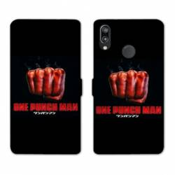RV Housse cuir portefeuille Huawei Honor 10 Lite / P Smart (2019) Manga One Punch Man poing