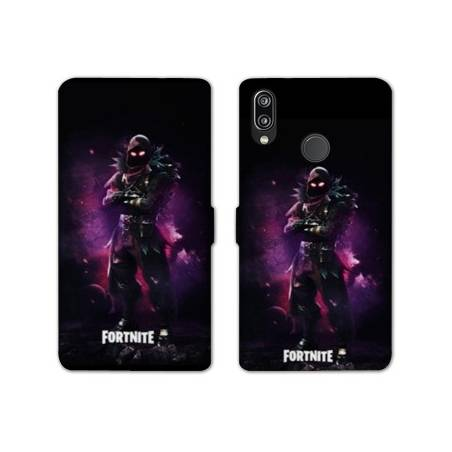 RV Housse cuir portefeuille Huawei Honor 10 Lite / P Smart (2019) Fortnite Raven