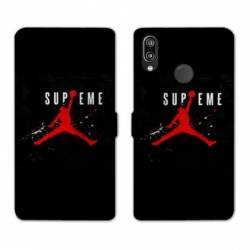 RV Housse cuir portefeuille Huawei Honor 10 Lite / P Smart (2019) Jordan Supreme Noir