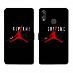 RV Housse cuir portefeuille Huawei Honor 10 Lite / P Smart (2019) Jordan Supreme Noir
