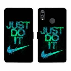 RV Housse cuir portefeuille Huawei Honor 10 Lite / P Smart (2019) Nike Just do it