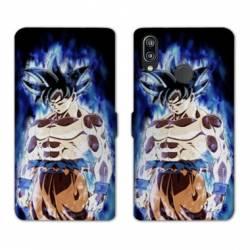 RV Housse cuir portefeuille Huawei P30 LITE Manga Dragon Ball Sangoku Noir