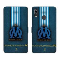 RV Housse cuir portefeuille Huawei P30 LITE Olympique Marseille OM Bande
