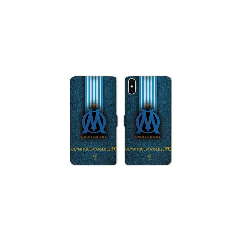RV Housse cuir portefeuille Huawei Y5 (2019) Olympique Marseille OM Bande