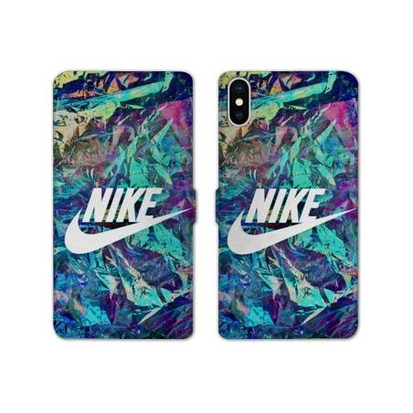 Housse cuir Portefeuille Huawei Y5 (2019) Nike Turquoise