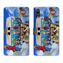 RV Housse cuir portefeuille Huawei Y6 (2019) / Y6 Pro (2019) Manga One Piece Sunny