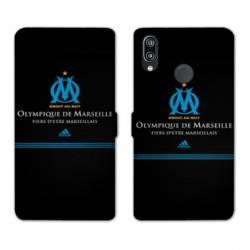RV Housse cuir portefeuille Huawei Y6 (2019) / Y6 Pro (2019) Olympique Marseille OM Fier etre Marseillais