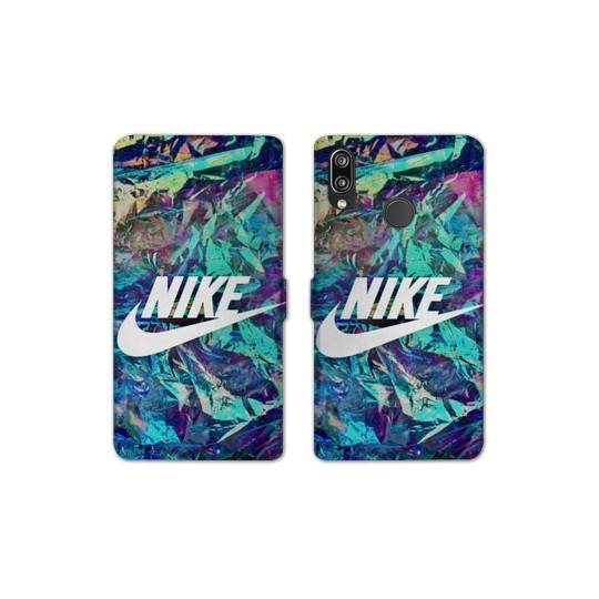 Housse cuir Portefeuille Pour Huawei Y6 (2019) / Y6 Pro (2019) / Y6S Nike Turquoise