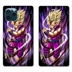 RV Housse cuir portefeuille Iphone 11 (6,1) Manga Dragon Ball Sangohan violet