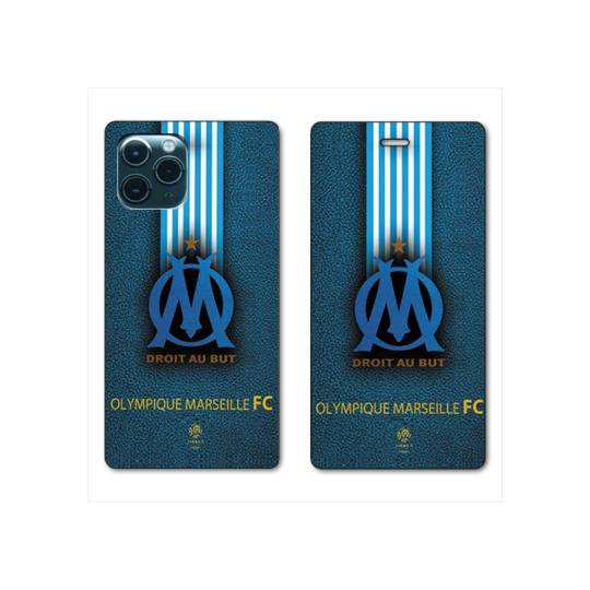 RV Housse cuir portefeuille Iphone 11 (6,1) Olympique Marseille OM Bande