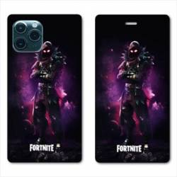 RV Housse cuir portefeuille Iphone 11 (6,1) Fortnite Raven
