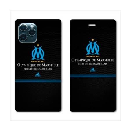 RV Housse cuir portefeuille Iphone 11 Pro (5,8) Olympique Marseille OM Fier etre Marseillais