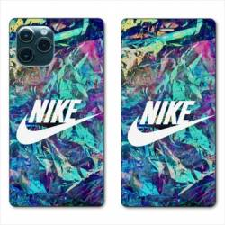 RV Housse cuir portefeuille Iphone 11 Pro Max (6,5) Nike Turquoise