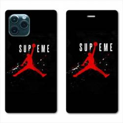 RV Housse cuir portefeuille Iphone 11 Pro Max (6,5) Jordan Supreme Noir