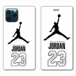 RV Housse cuir portefeuille Iphone 11 Pro Max (6,5) Jordan 23 Blanc