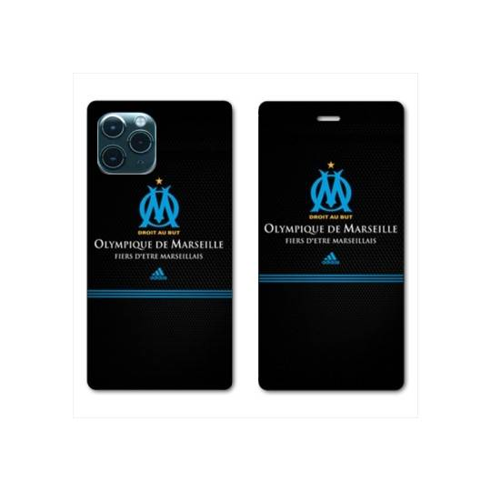 RV Housse cuir portefeuille Iphone 11 Pro Max (6,5) Olympique Marseille OM Fier etre Marseillais