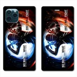RV Housse cuir portefeuille Iphone 11 Pro Max (6,5) Manga SAO sword Art Online Fight