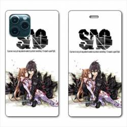 RV Housse cuir portefeuille Iphone 11 Pro Max (6,5) Manga SAO sword Art Online blanc