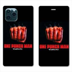 RV Housse cuir portefeuille Iphone 11 Pro Max (6,5) Manga One Punch Man poing