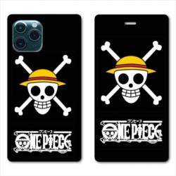 RV Housse cuir portefeuille Iphone 11 Pro Max (6,5) Manga One Piece tete de mort